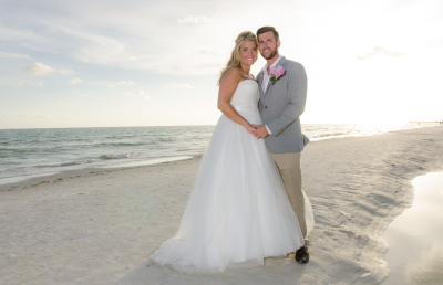 Happy Couple after their Navarre Beach Wedding!