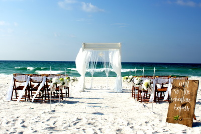 Beach Wedding Package Pensacola Beach, Florida.