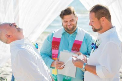LGBT Beach Weddings in Pensacola, Florida.